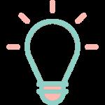 Ampoule symbolisant idee